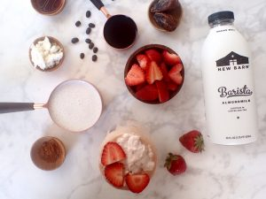 Vegan Strawberries & Cream Latte