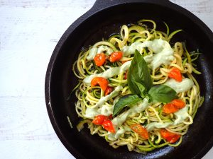 Zoodles with Lemon-Herb Cashew Cream