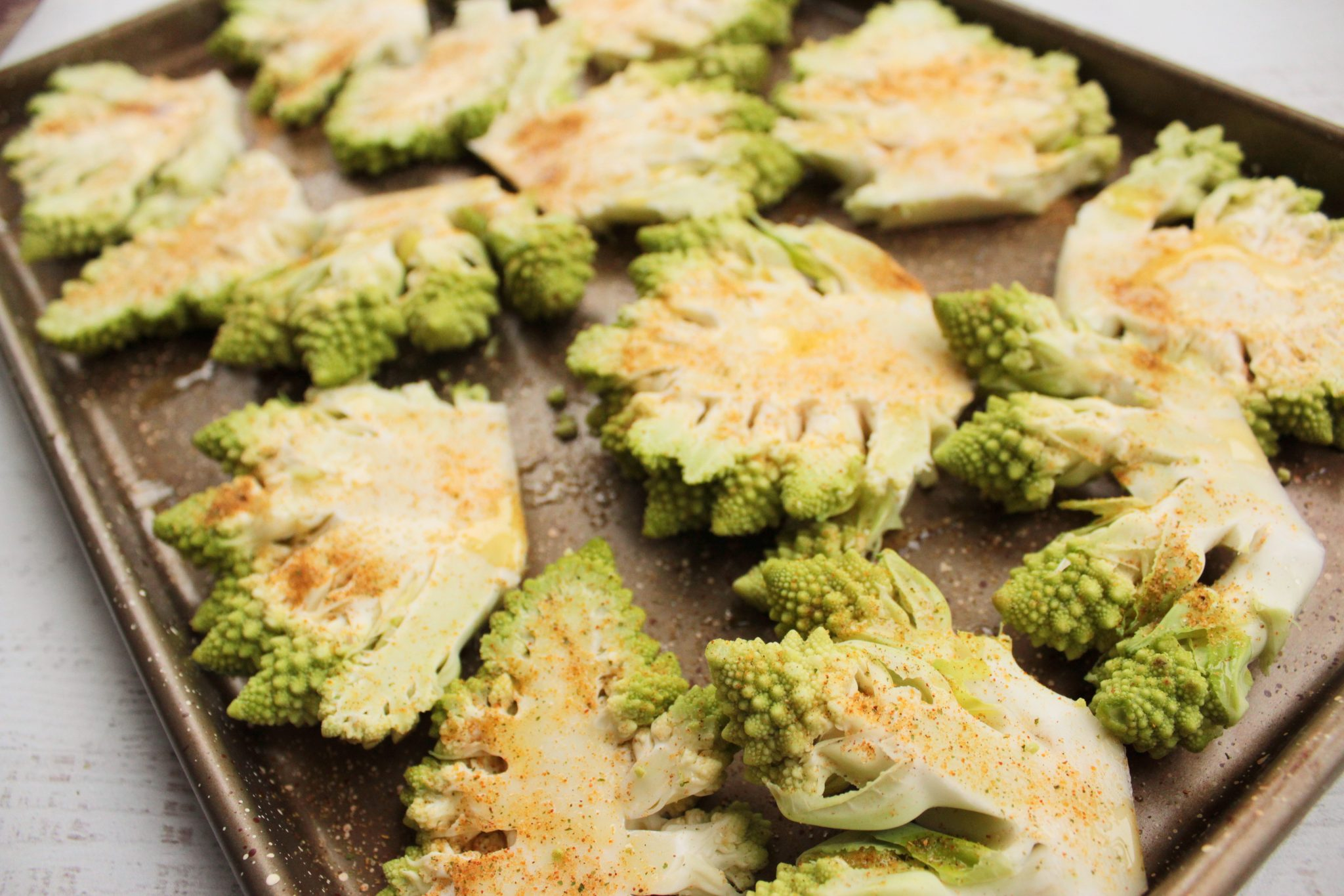 Roasted Romanesco Steaks | Hashtag Vegan