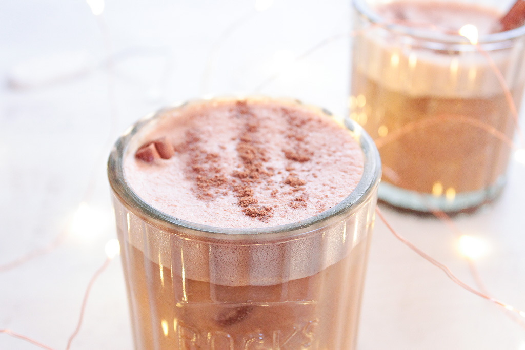Bourbon Cacao Vegan Milk Punch | Hashtag Vegan