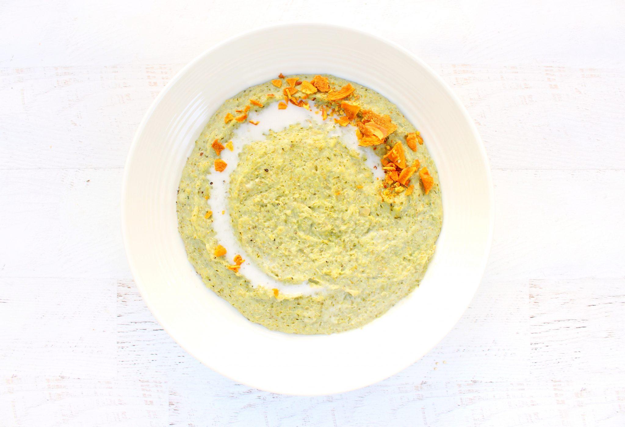 Creamy Vegan Broccoli & Quinoa Soup | Hashtag Vegan