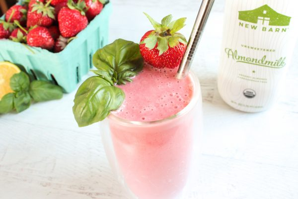 Hashtag Vegan | Strawberry Basil Margarita Smoothie
