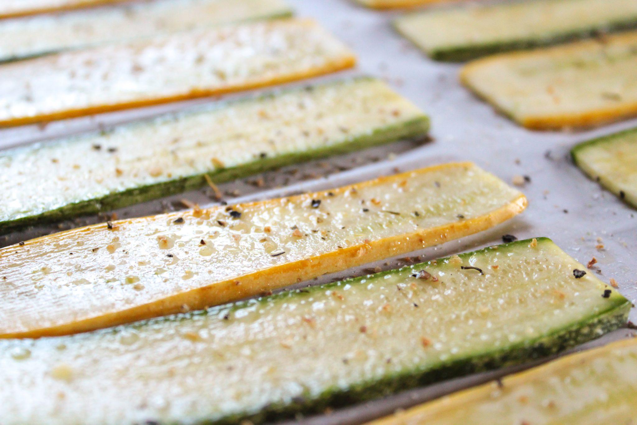 Hashtag Vegan | Lemon Pepper Zucchini Crisps