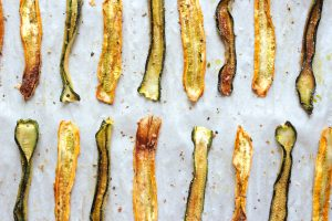 Lemon Pepper Zucchini Crisps