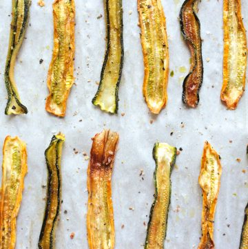 Hashtag Vegan | Lemon Pepper Zucchini Crisps