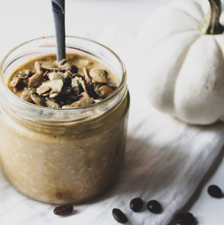 Pumpkin Spice Latte Overnight Oats