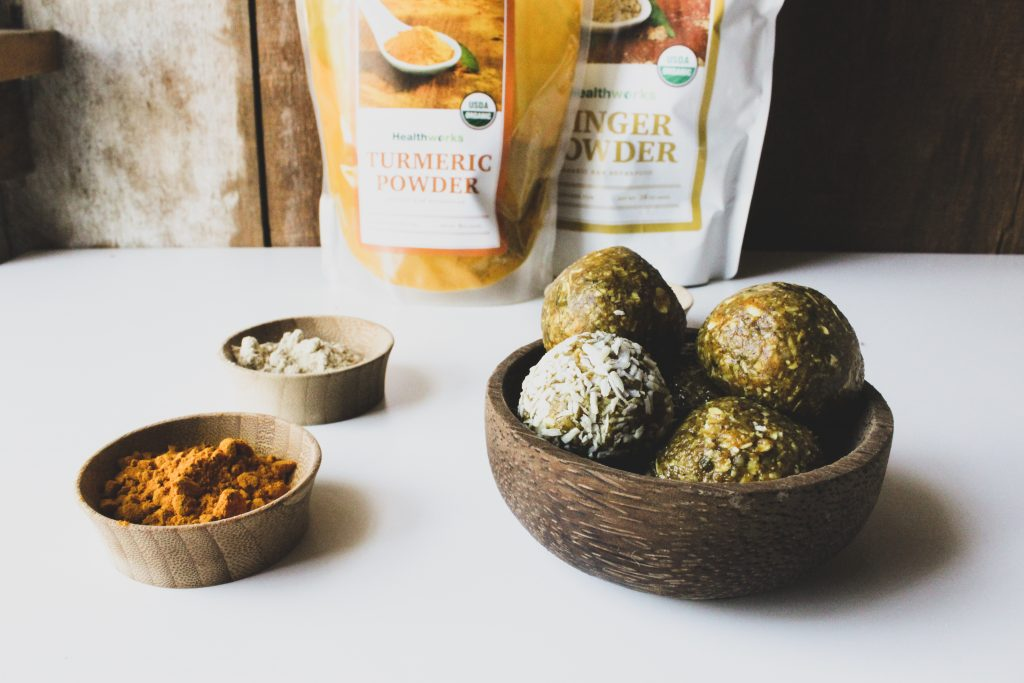 Turmeric Ginger Energy Balls • Hashtag Vegan Recipes