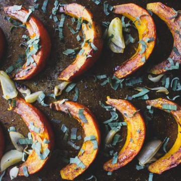 Habanero Sage Roasted Pumpkin Wedges