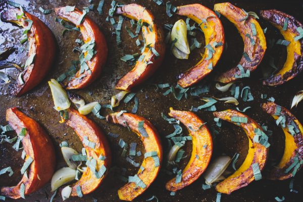 Habanero Sage Roasted Pumpkin Wedges