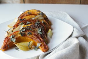 Habanero Roasted Pumpkin Wedges