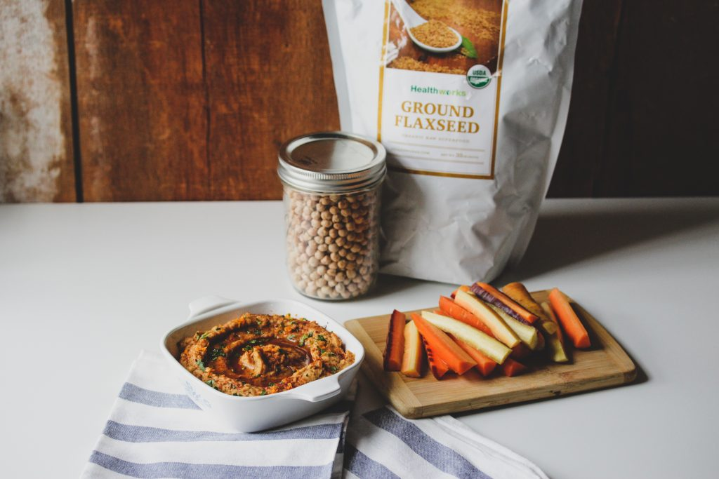 Hashtag Vegan • Sweet & Smoky Flaxseed Hummus