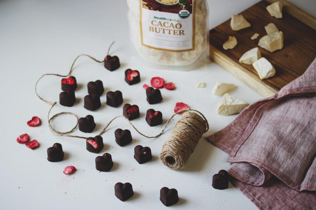 Hashtag Vegan • Five-Ingredient Strawberry Chocolates