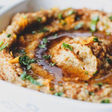 Hashtag Vegan • Sweet & Smoky Flaxseed Hummus
